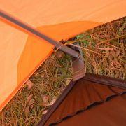 Barraca Camping para até 3 Pessoas Laranja/Cinza MYKRA 2/3 AZTEQ