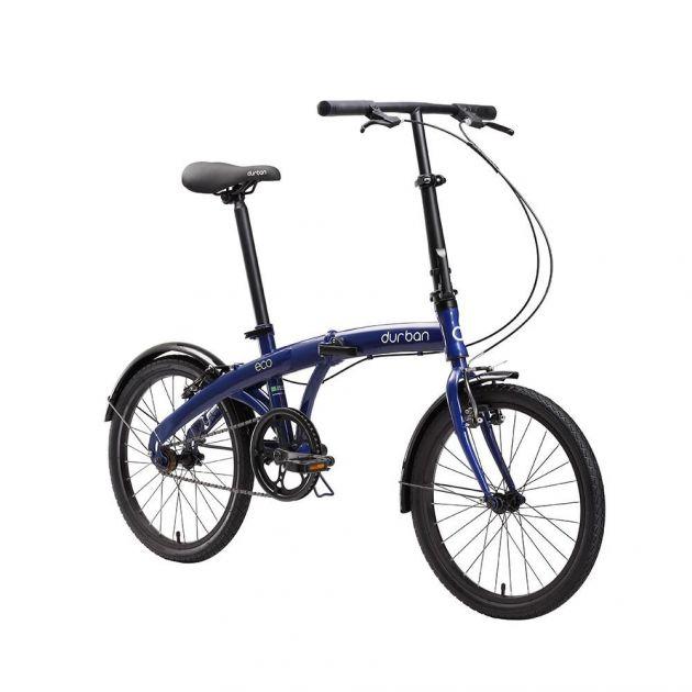 Bicicleta Dobrável Urbana Aro 20 com 1 Marcha e Quadro em Aço Carbono ECO DURBAN
