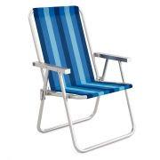 Cadeira de Praia Alta Conforto em Alumínio MOR