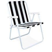 Cadeira de Praia Alta em Aço MOR
