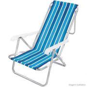 Cadeira de Praia Reclinável 8 Posições em Alumínio MOR