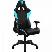 Cadeira Gamer Esportiva Ajustável Preta/Azul Cyan EC3 THUNDERX3