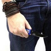 Canivete com Trava de Segurança e Lâmina Preta Tipo Turca THUNDER NTK Nautika