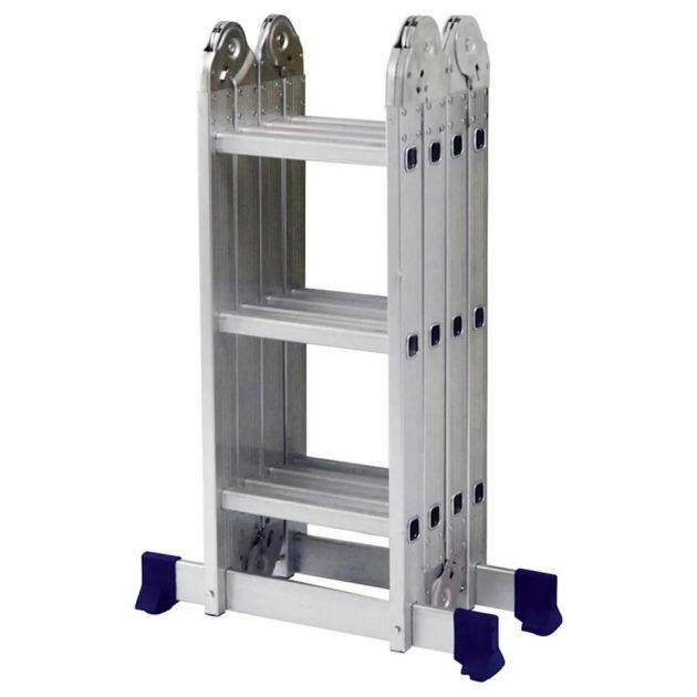 Escada Multifuncional Articulada 4x3 12 Degraus em Alumínio MOR
