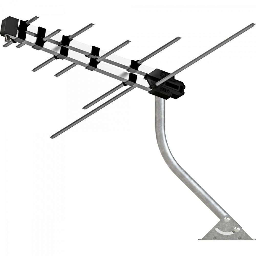Kit Antena Digital Completo 4x1 com Mastro, Cabo e Antena PROHD 3630/01 LOG PROQUALIT