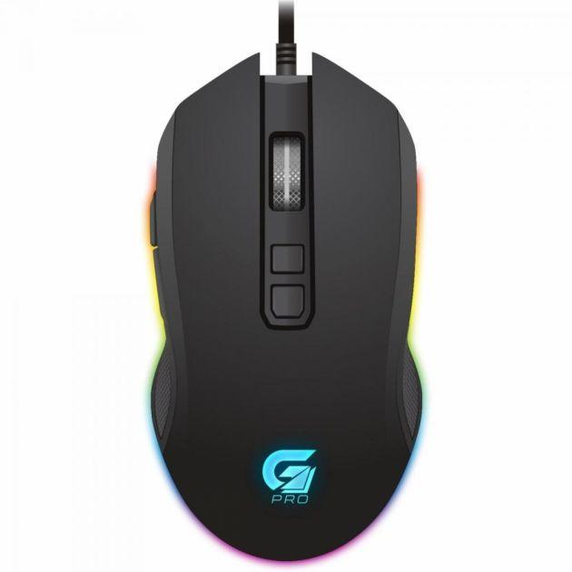 Mouse Gamer Emborrachado 7 Botões com LED RGB Preto G-PRO M3 FORTREK