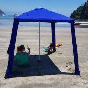 Sombreiro Guarda-Sol para Praia 1,73x1,73m c/Sistema de Ancoragem Lateral e Base Central IBIZA NTK