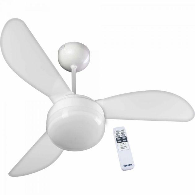 Ventilador de Teto 3 Pás 127V Branco com Controle Remoto FENIX VENTISOL